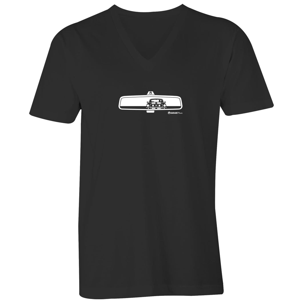 Mustang Rearview Mens V-Neck Tee