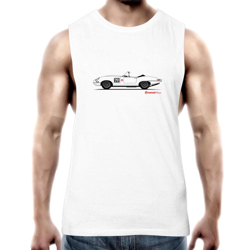 Jaguar E-Type Series One Roadster Mens Barnard Tank Top Tee