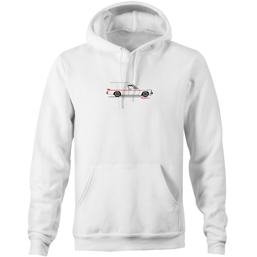 Panel Van Side - Pocket Hoodie Sweatshirt (Print on Demand)