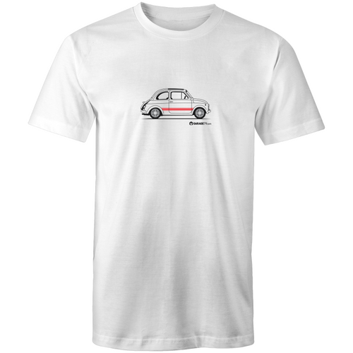 Fiat Side with Red - Mens T-Shirt (print on Demand)