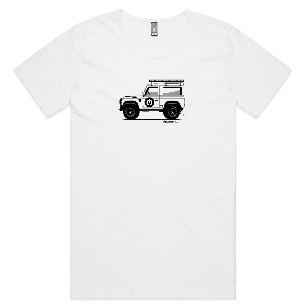 Land Rover Mens Scoop Neck T-Shirt