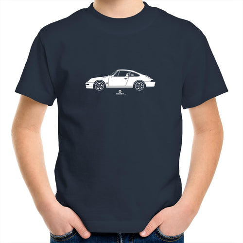 Porsche 993 Kids Youth Crew T-Shirt