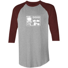 Make Your Own Commodore Raglan 3/4 Sleeve T-Shirt