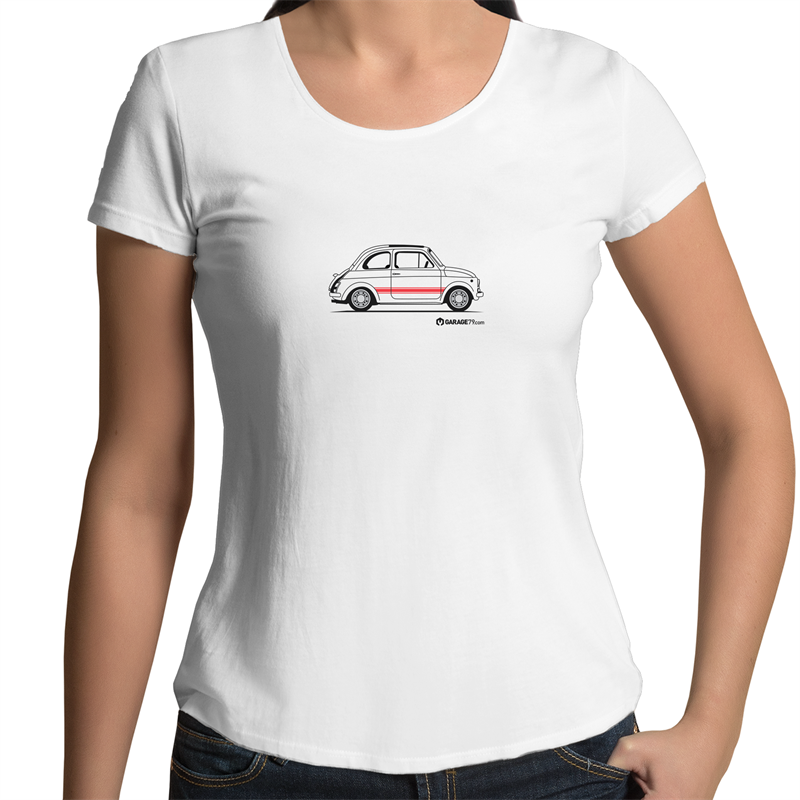 Fiat Side - Womens Scoop Neck T-Shirt (Print on Demand)