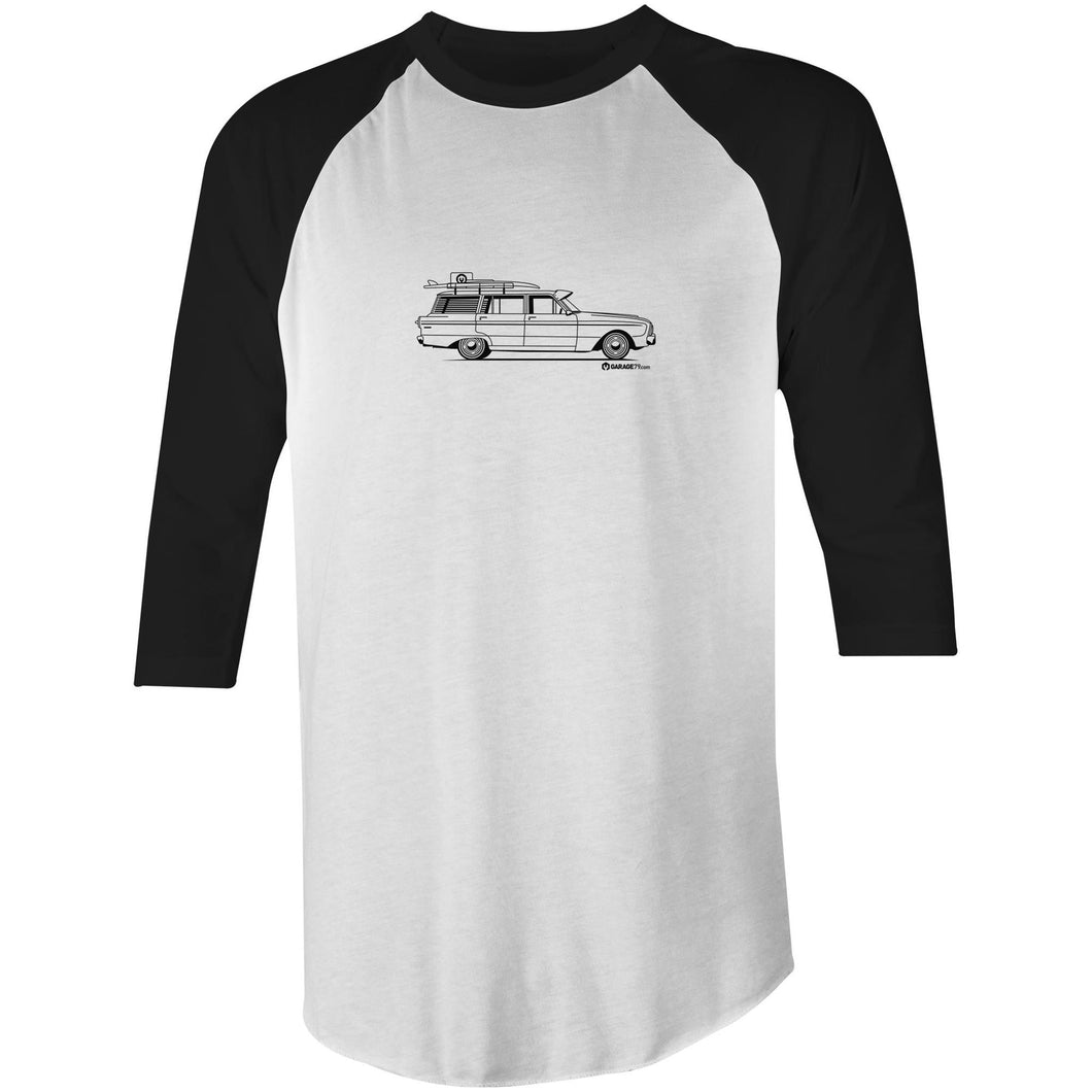 Falcon Wagon on the Side 3/4 Sleeve T-Shirt