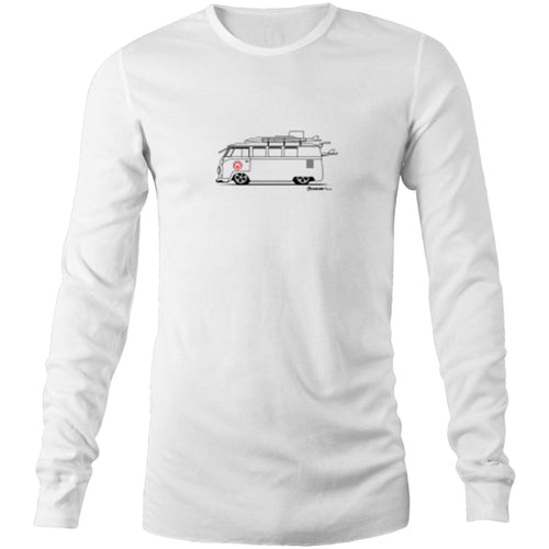 Surfing Kombi Side - Mens Long Sleeve T-Shirt