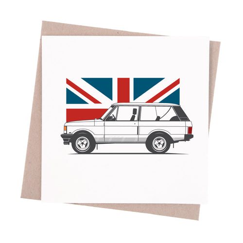 Range Rover Greeting Card