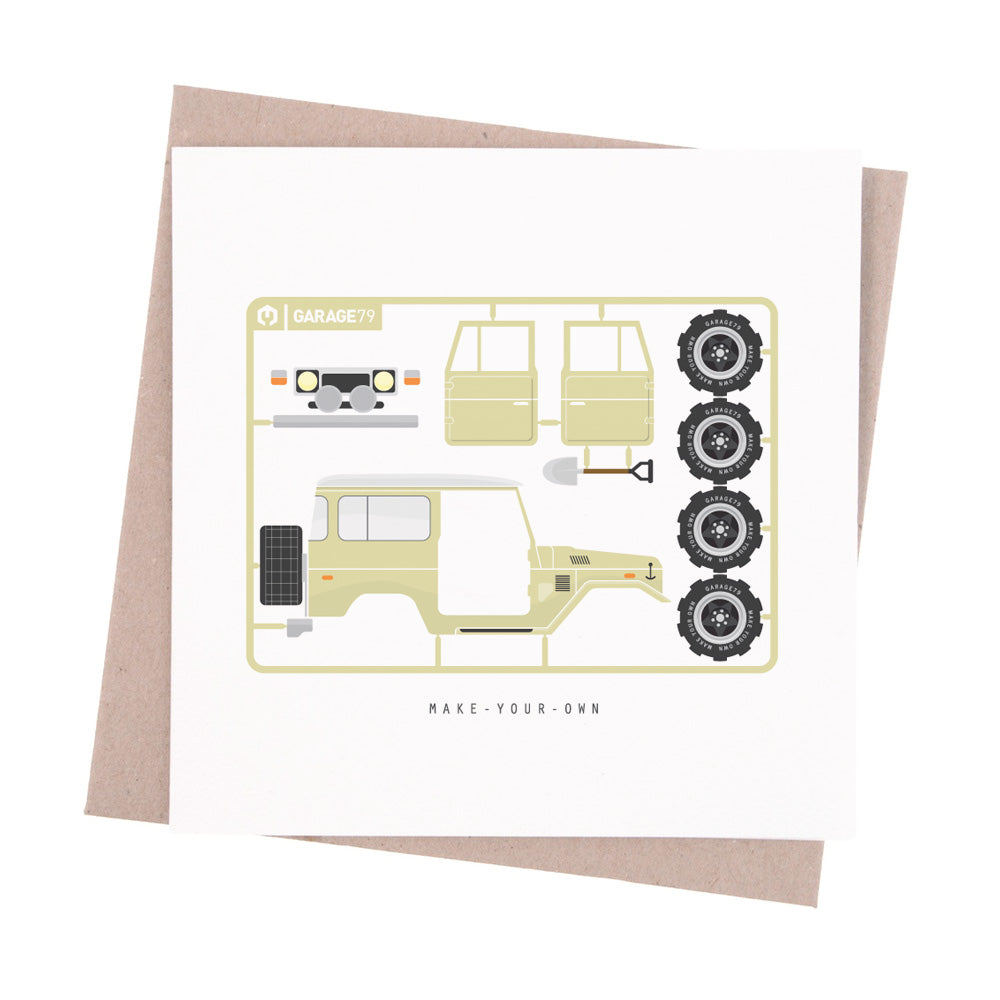 Make your own Toyota 4WD - Greeting Card - Garage79