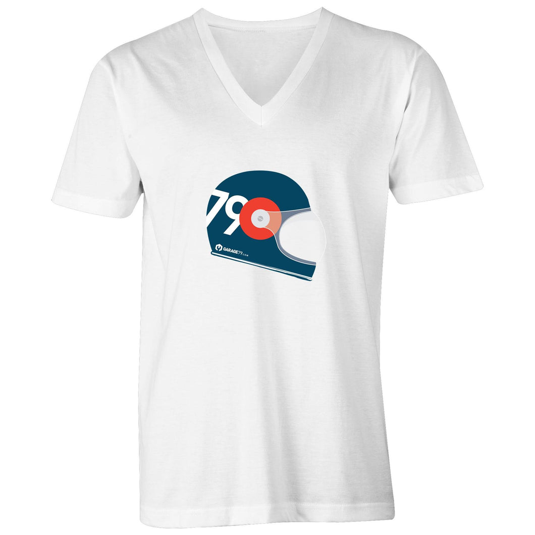 Garage79 Helmet Mens V-Neck Tee