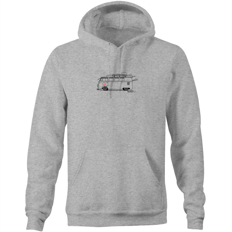 Kombi on the Side - Pocket Hoodie Sweatshirt (Print on Demand)
