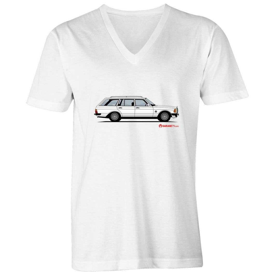 Mercedes Wagon Mens V-Neck Tee