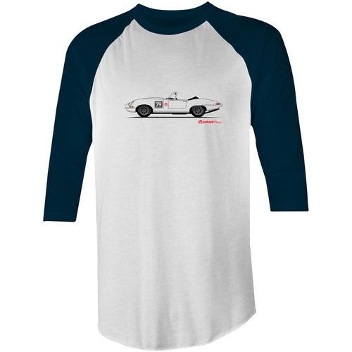 Jaguar E-Type Series One Roadster 3/4 Sleeve T-Shirt