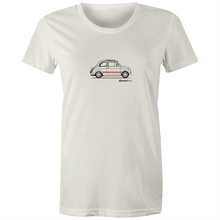 Fiat Side with Red - Women's Crew Neck T-Shirt (Print on Demand)