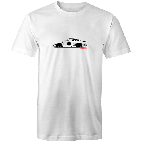 Porsche Side with RED highlights - Mens T-Shirt (Print on Demand)