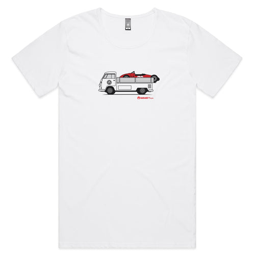 Kombi Ute Side Racer Mens Scoop Neck T-Shirt