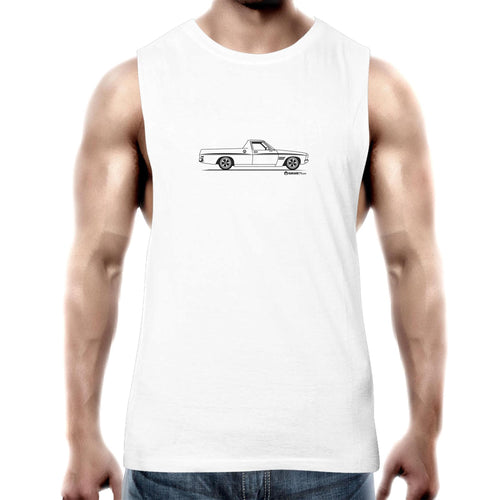 HQ Ute on the Side Mens Barnard Tank Top Tee