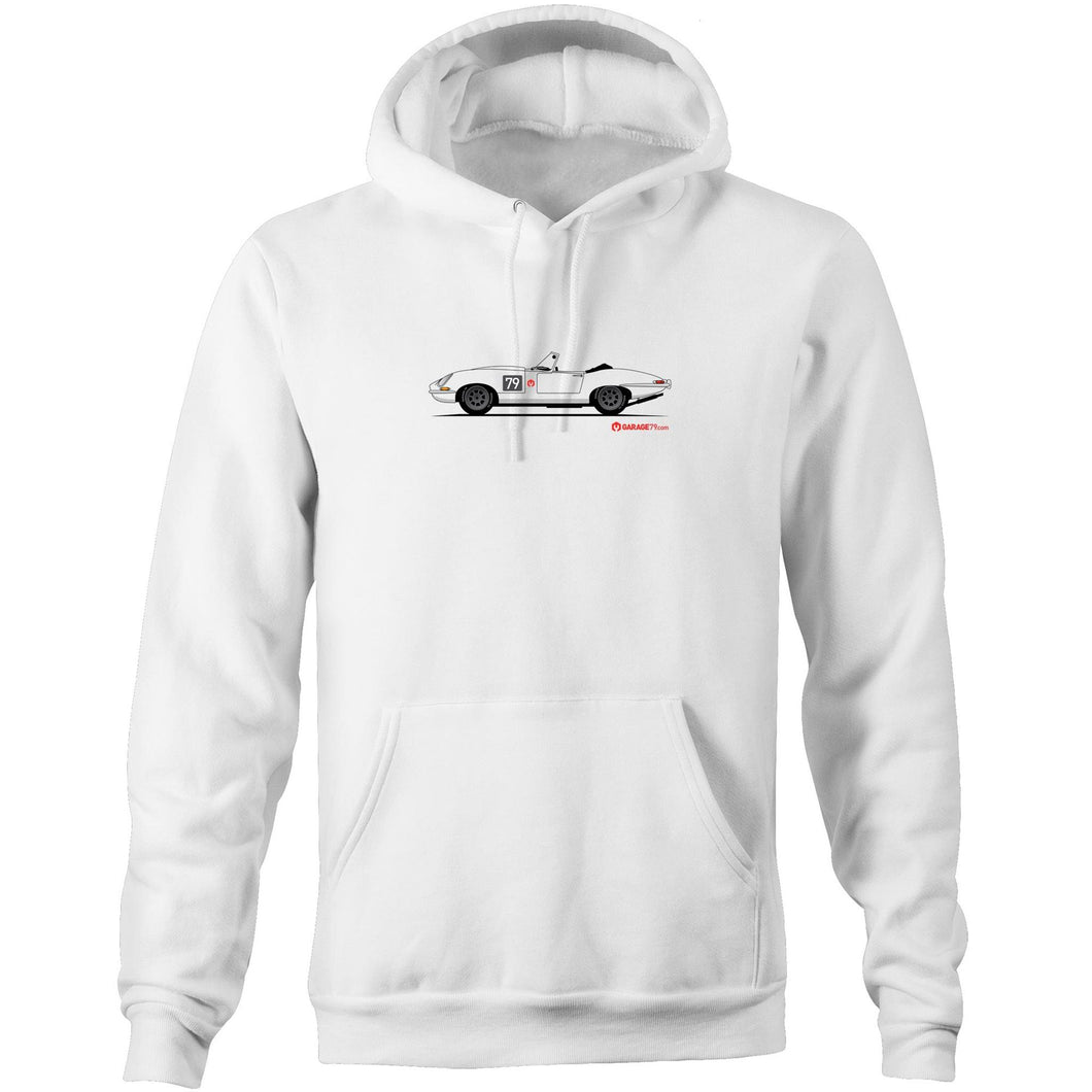 Jaguar E-Type Series One Roadster Pocket Hoodie Sweatshirt