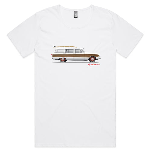 Falcon Surfing Wagon Mens Scoop Neck T-Shirt