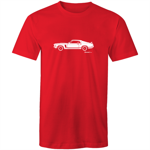 Mustang Side View - Mens T-Shirt (Print on Demand)