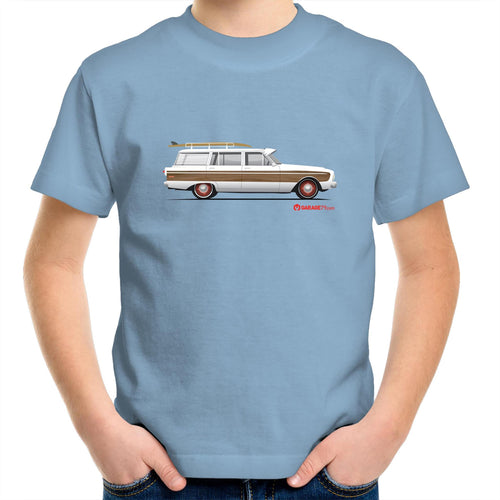 Falcon Surfing Wagon Kids Youth Crew T-Shirt