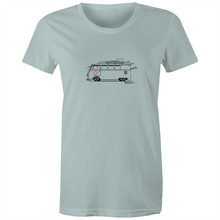 Surfing Kombi - Women's T'shirt (Print on Demand)