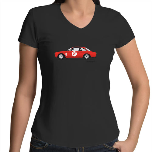 Alfa 105 GTV - Womens V-Neck T-Shirt