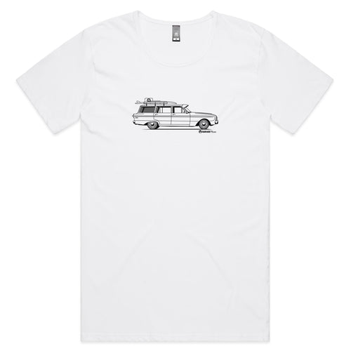 Falcon Wagon on the Side Mens Scoop Neck T-Shirt