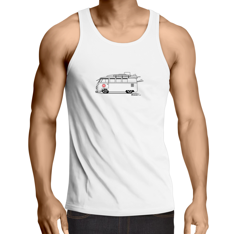 Kombi Side - Mens Singlet Top (Print on Demand)
