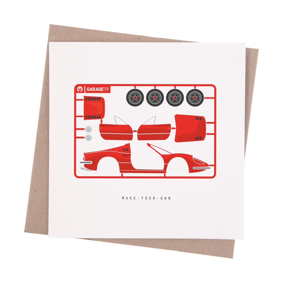 Make your own Ferrari - Greeting Card - Garage79
