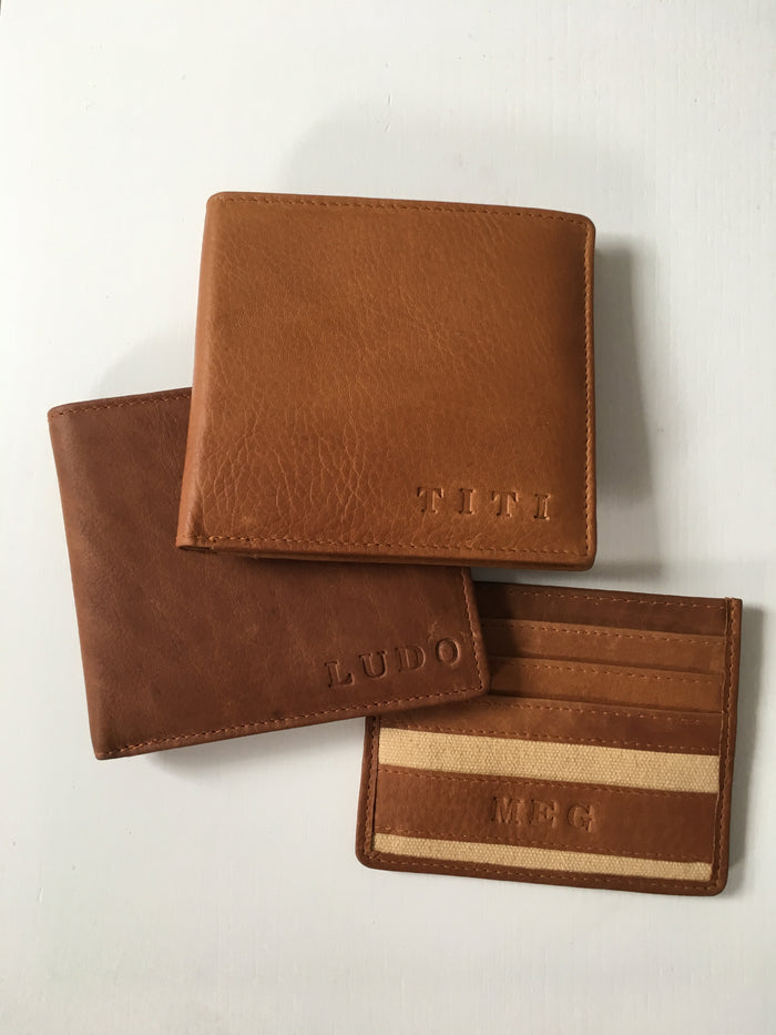 Portefeuille NATHAN Brun & Sable personnalisable