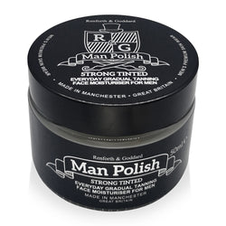 Man Polish Strong Tinted - Everyday Gradual Tanning Face Moisturiser for Men - 50ml