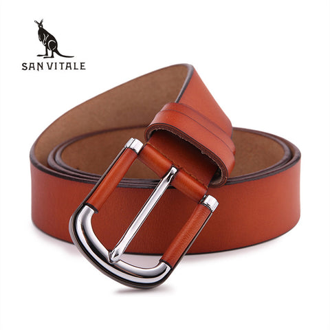 SAN VITALE Top Cow genuine leather belts for men - Handcrafted mens luxury belt