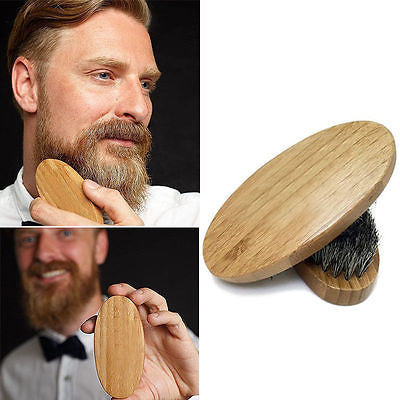 Natural Boar Bristle Beard Brush For Men