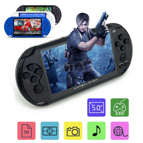 5 Inch Large Screen LCD Coolbaby X9 Nostalgic 8G Handheld Retro Game Console Video MP3 Player for GBA/NES games