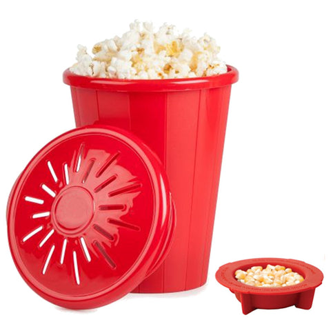 Popcorn Maker Bucket Silicone Microwave Snack Bucket Family Party Supplies Kitchen Tools Popcorn Container Bakingwares DIY