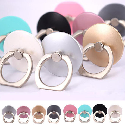 10pcs/Lot Colorful 360 Degree Finger Ring Holder Mobile Phone Stand Universal Ring Hook Bracket Ring Hook Bracket gadgets