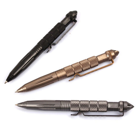 Convenient And Easy To Carry Black Tactical Pen Glass Breaker Self Defense Emergency Survival Tool