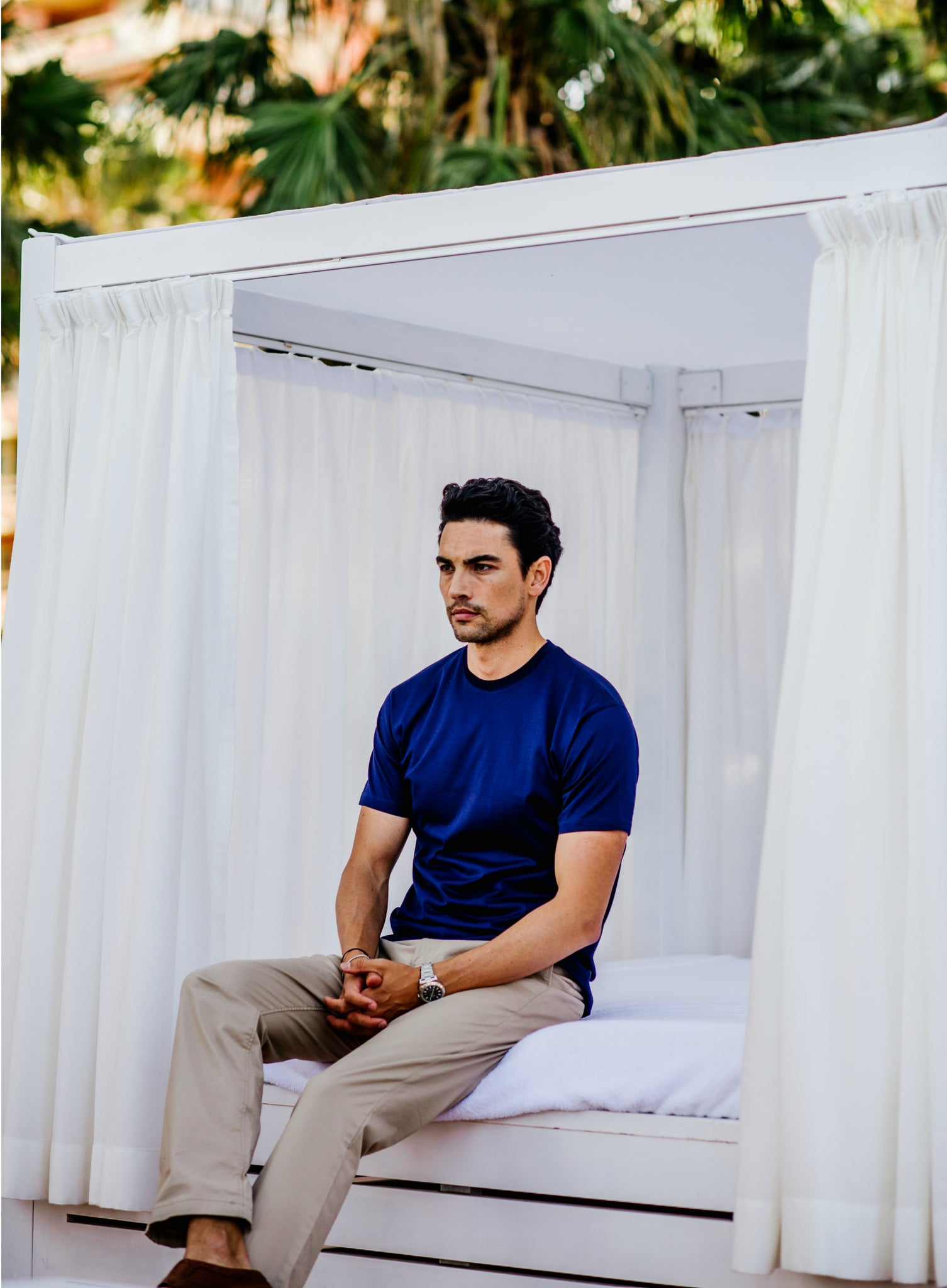 Blue T-Shirt, Cabana, Marbella by Niccolò P.