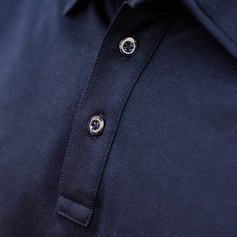 Mother-of-Pearl Buttons on Polo Shirt
