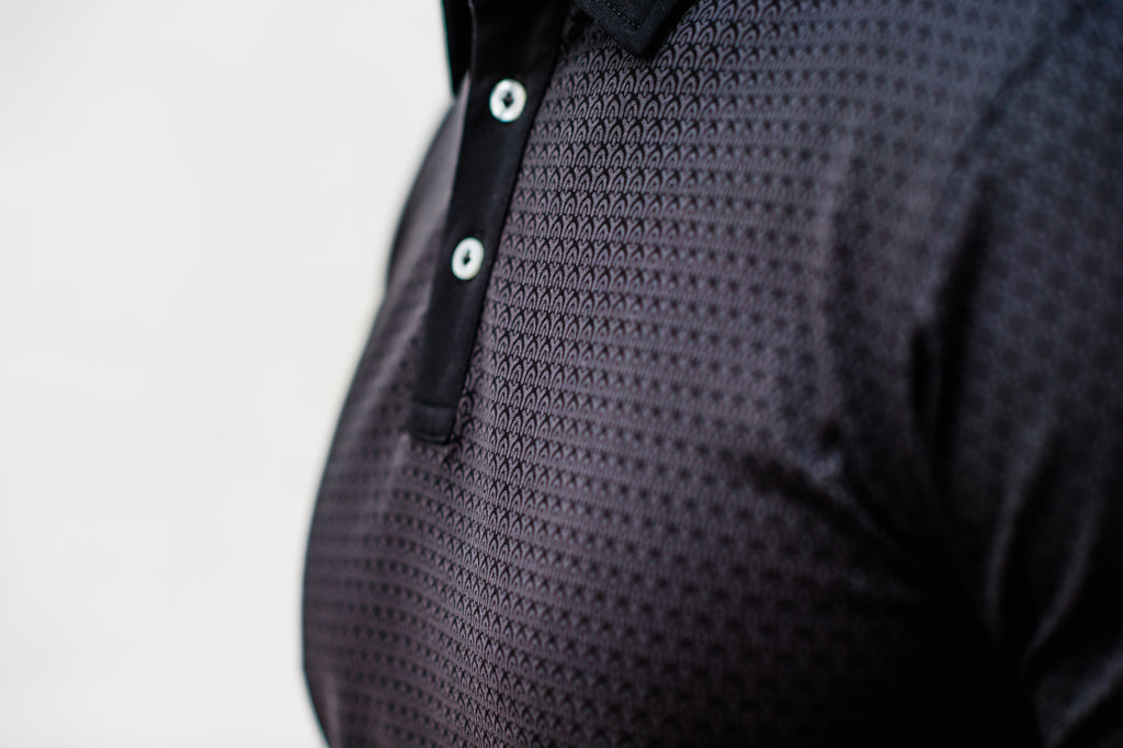 Limited Edition Black Print Polo Shirt