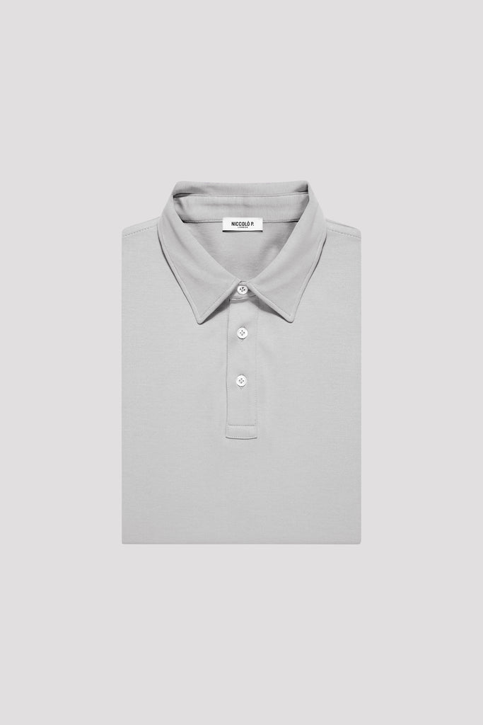 Alloy Grey Polo Shirt in Egyptian Cotton