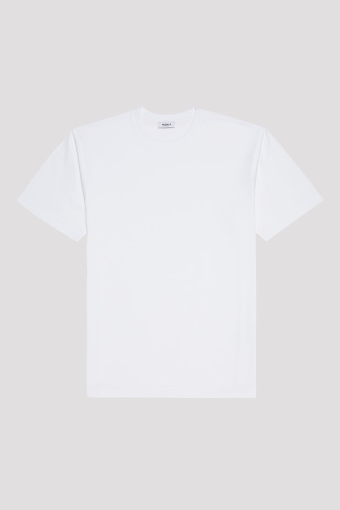 Optic White Crew Neck T-Shirt in Supima Cotton
