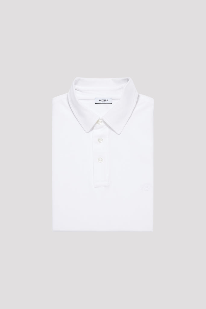 Optic White Polo Shirt Sea Island Cotton