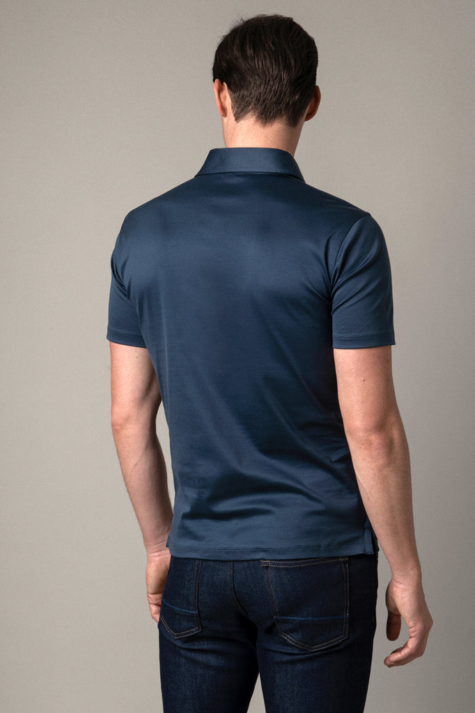 Slate Grey Polo Shirt in Egyptian Cotton