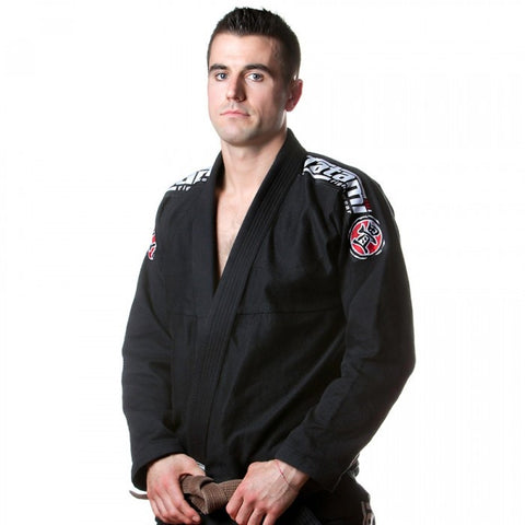 Nova 2015 BJJ Gi - Black - Free White Belt