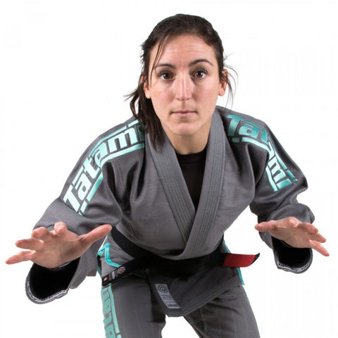 Ladies Estilo 5.0 Premier BJJ Gi - Grey & Mint