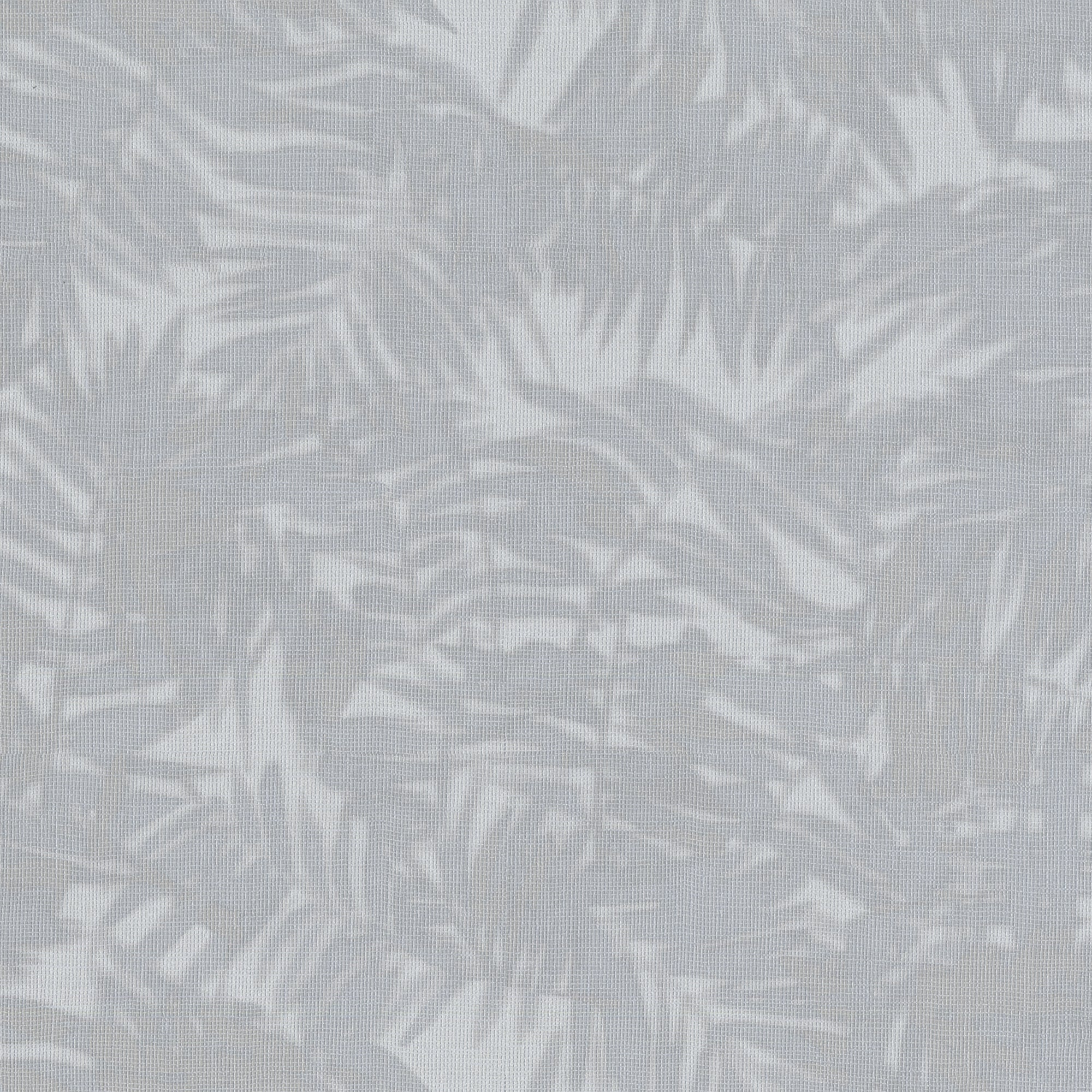 Gray Blue, Textured Metallic Palm Leaves On Faux Grasscloth. 10000 61