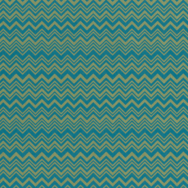 Green And Blue, Multi-Width Chevron. 10137, Zig Zag