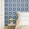 Gemma Indigo Boho Medallion Wallpaper