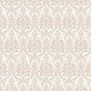 Waverly Mauve Petite Damask Wallpaper